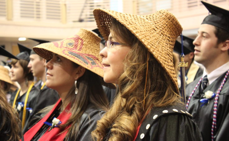 This is first time UAS has had graduates with a Bachelor of Liberal Arts in Alaska Native Languages and Studies. (Photo by Lisa Phu/KTOO)