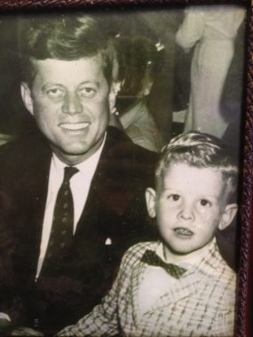 A close-up of the Kennedy photo in the frame. (Photo by Mary Tarr)