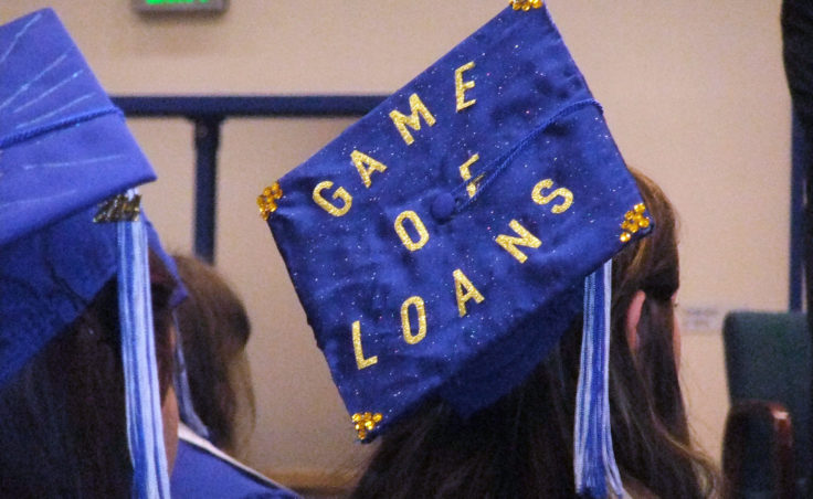 A healthy sense of humor and a nod towards the challenges of college. (Photo by Rosemarie Alexander/KTOO)