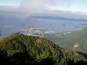 Mount Verstovia trail is a 2.5 mile trail that starts 2 miles East of Sitka. (Wikimedia Commons photo)