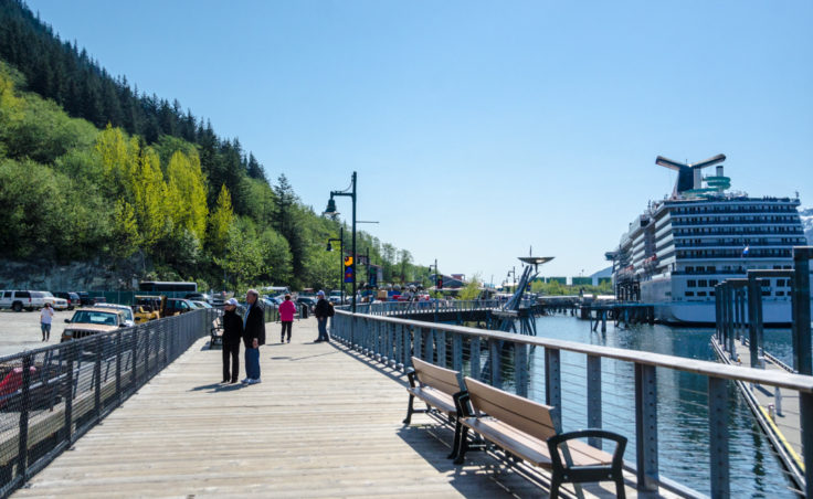 The Seawalk reaches from Marine Park to the Franklin Street dock. (Photo by Heather Bryant/KTOO)