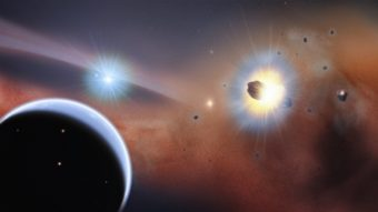 Planet β Pictoris b spins so fast, its day only lasts eight hours. NASA/Goddard Space Flight Center/F. Reddy