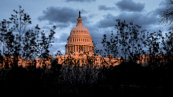 """Only 7 percent of Americans polled by Gallup said they have """"a great deal"""" or """"quite a lot"""" of confidence in Congress as an American institution. Brendan Smialowski/AFP/Getty Images"""