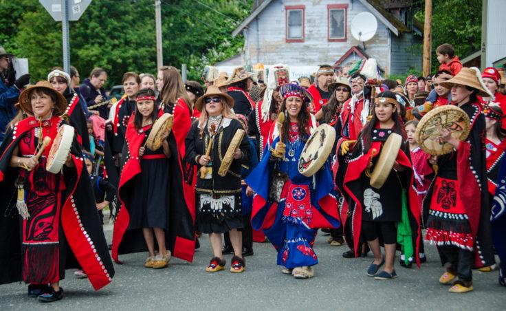 Grand Entrance to Celebration. (Photo by Heather Bryant/KTOO)