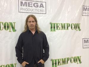Robert Calkin, the president of the Cannabis Career Institute, spoke at an exhibition called Hempcon held in San Bernardino, Calif., last year. Courtesy of Robert Calkin/AP