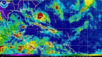 Tropical Storm Arthur spins off the coast of Florida. NOAA