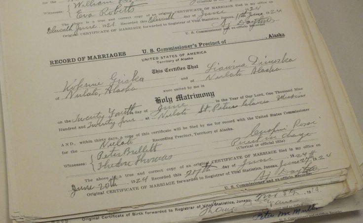 Nulato marriage certificate