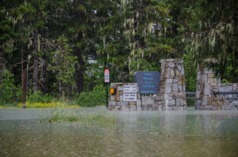Montana Creek road was closed just past Arctic Circle. (Photo by Heather Bryant/KTOO)