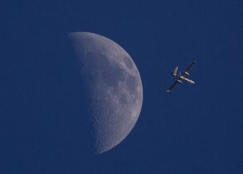 An Israeli drone circles over Gaza City on Sunday. Dusan Vranic/AP