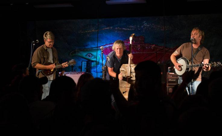 three bluegrass musicians