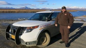 Mike Myers is the roving village public safety officer serving southwest Alaska villages including Manokotak. Like many officers in rural Alaska, Myers doesn't carry a gun and often doesn't need one