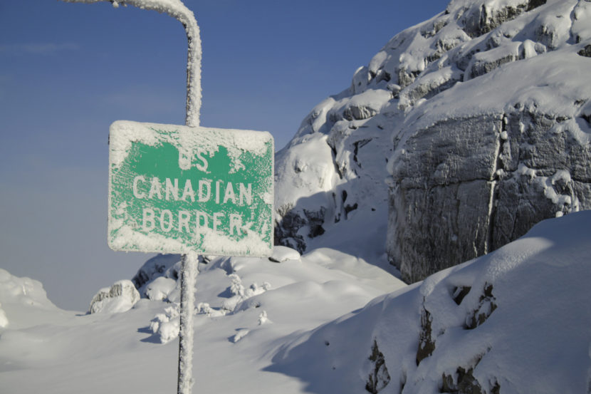 The American-Canadian border is seen at the Klondike Highway between Alaska and British Columbia on Wednesday afternoon, Nov. 26, 2014. (Creative Commons Photo by James Brooks)