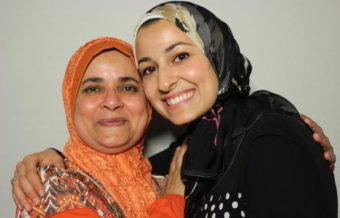 Yusor Abu-Salha (right) recorded a StoryCorps interview last summer with her former teacher, Sister Jabeen. Abu-Salha died earlier this week, along with her sister and husband. (Photo courtesy StoryCorps)