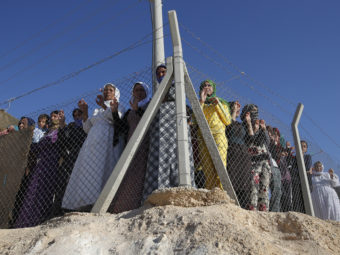 Syrian refugees at the Midyat refugee camp in Mardin, southeastern Turkey, near the Syrian border in June. Emrah Gurel/AP