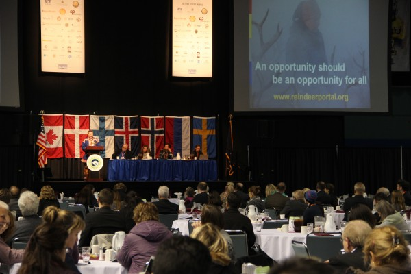 Representatives from countries throughout the region gathered at this week's Arctic Energy Summit in Fairbanks. (Photo by Rachel Waldholz/APRN)