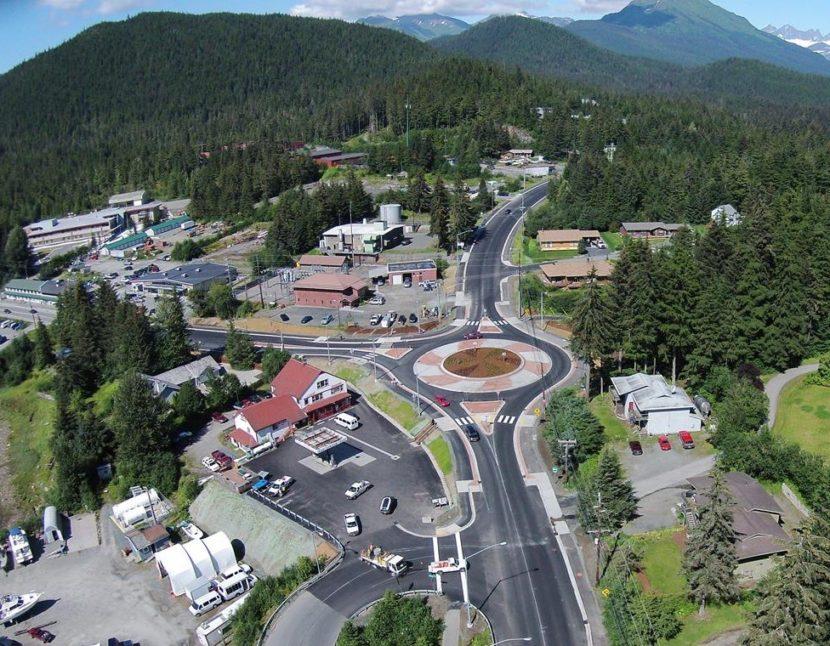 Auke Bay/Dehart's roundabout