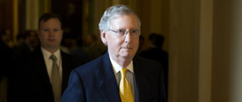 Senate Majority Leader Mitch McConnell brought a measure up for a vote Thursday that funded the government but defunded Planned Parenthood. Democrats banded together to block it. Evan Vucci/AP