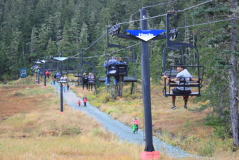 People enjoyed a free chair lift ride during the 7th annual Discover Eaglecrest Day.