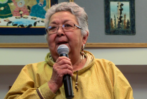 Bea Kristovich is the first woman Traditional Chief of AVCP. (Photo by Anna Rose MacArthur / KYUK)