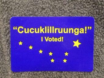 Yupik I Voted sticker