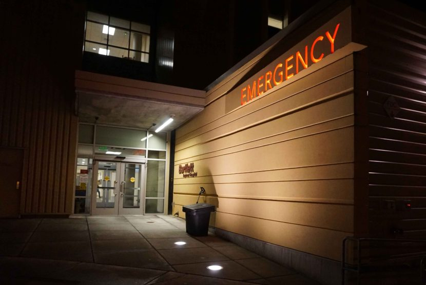 Emergency room entrance at Bartlett Regional Hospital. (Photo by Jennifer Canfield/KTOO)