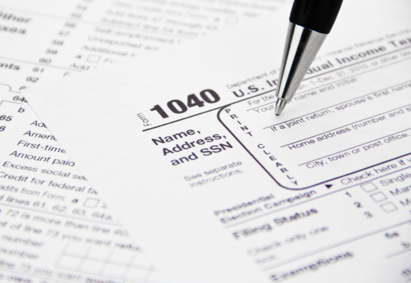 IRS 1040 Income Tax Form