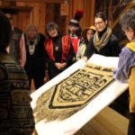 The Sealaska Heritage Institute recently acquired a Chilkat robe believed to be a funerary object. (Photo by Elizabeth Jenkins/KTOO)