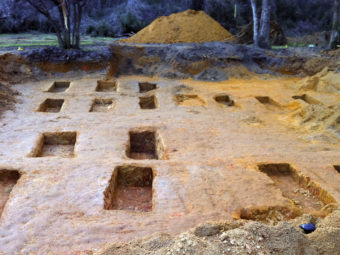 Researchers from the University of South Florida found some of the remains of 55 people in a graveyard at the Dozier School for Boys in Marianna, Fla. USF Anthropology Team/AP