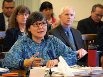 Health Commissioner Valerie Davidson during a discussion on Medicaid reform in Senate Finance Feb. 24, 2016. (Photo by Skip Gray/360 North)