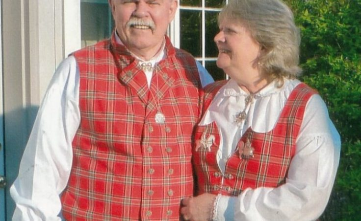Al and Sally Dwyer in traditional Norwegian clothing. (KFSK photo courtesy of the Dwyers)
