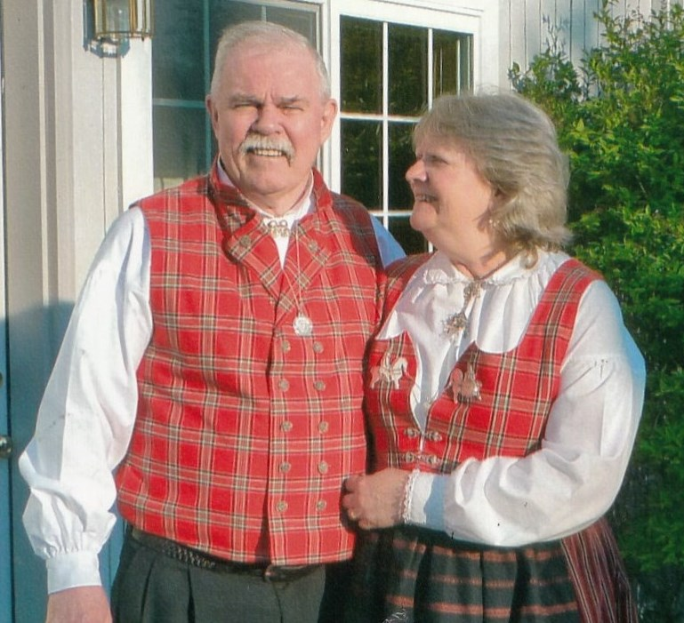al and sally dwyer in traditional norwegian clothing kfsk photo