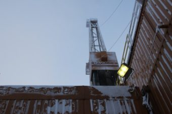 Doyon drill rig at CD5 drill site on the North Slope