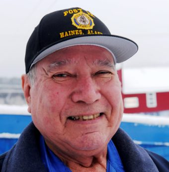78-year-old Ralph Strong, an Alaska Native veteran from Klukwan