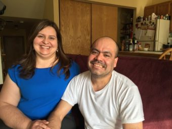 Dayra and Mario Valades at their home in Anchorage. (Photo by Anne Hillman/KSKA)