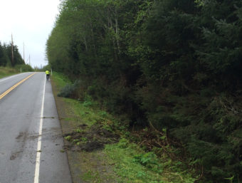 North Douglas Highway accident scene