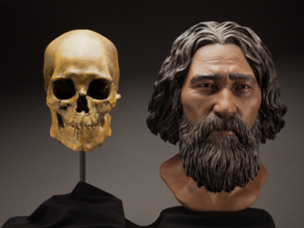 A reconstruction of Kennewick Man sculpted to resemble the Ainu people of Japan, considered by some at the time to be his closest living relatives. Now, a link to Native Americans has been confirmed. Brittney Tatchell/Smithsonian Institute
