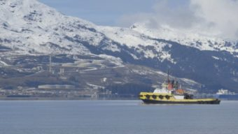 Crowley Marine Services currently holds the contract to provide oil tanker escorts and spill response and prevention in Prince William Sound. (Photo by Eric Keto/APRN)