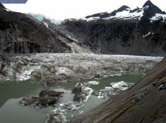 U.S. Geological Survey webcam picture of Suicide Basin taken June 29, 2016.