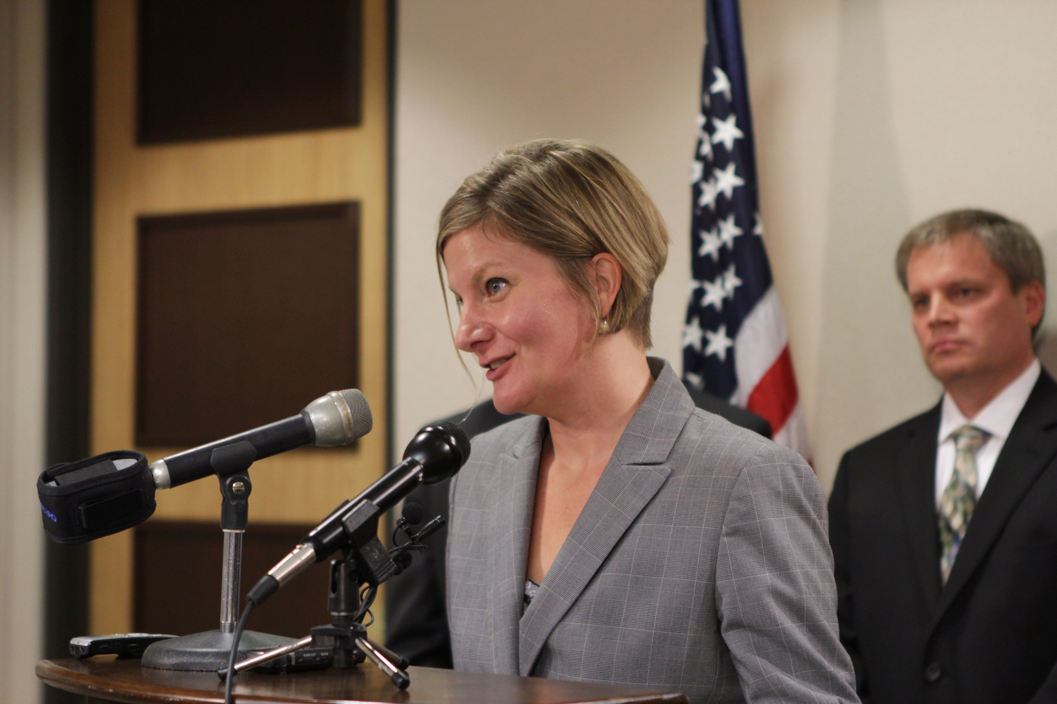 Jahna Lindemuth was named Alaska's attorney general by Gov. Bill Walker. (Photo by Graelyn Brashear/Alaska Public Media)