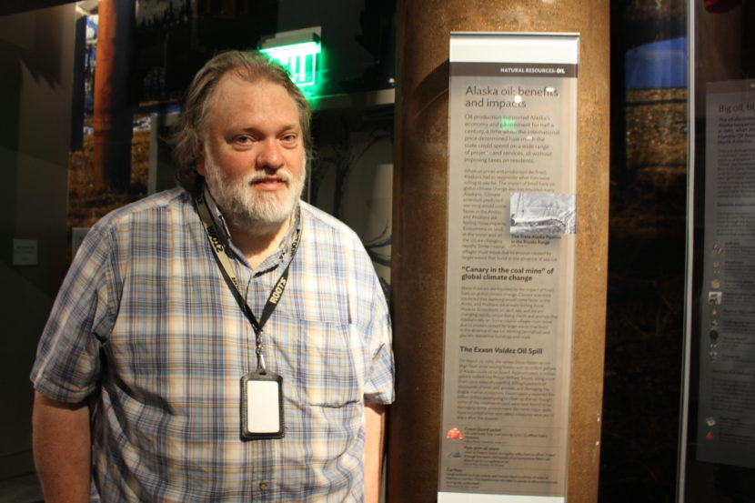 Steven Henrikson has worked at the state museum since 1988. (Photo by Elizabeth Jenkins/KTOO)