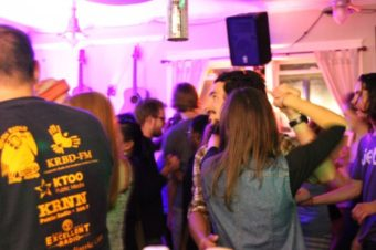A lively crowd dances at Techno Contra. Photo by Katherine Rose/KCAW
