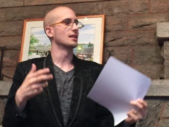 Poet Max Ritvo who chronicled his long battle with cancer has died. He was 25. Judith Eigen Sarna/AP