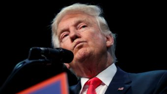 Donald Trump has seen controversy before, but his latest round of offenses has reopened a rift in the GOP, and his poll numbers have slipped badly, marking a potential turning point in the campaign. (Evan Vucci, Associated Press)
