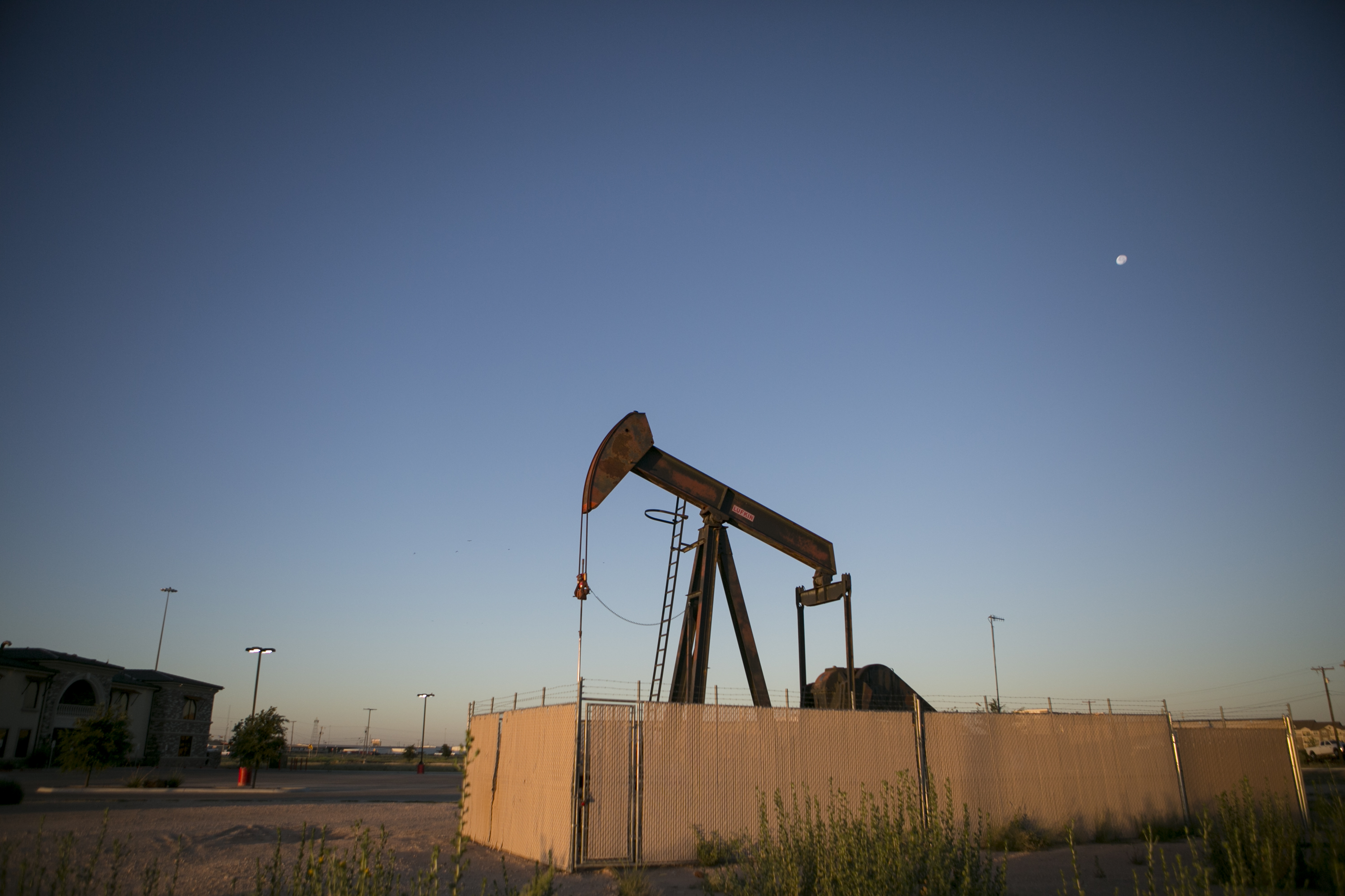 Texas town 39 s fortunes rise and fall with pump jacks and for Landscaping rocks midland tx