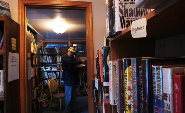Rare and popular volumes of fiction, nonfiction and reference books line the shelves at Observatory Books.