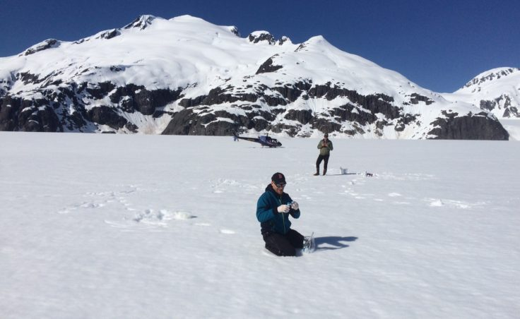 Juneau Icefield black carbon sampling in May 2016.
