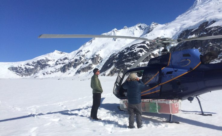 Black carbon sampling trip on the Juneau Icefield in May 2016.