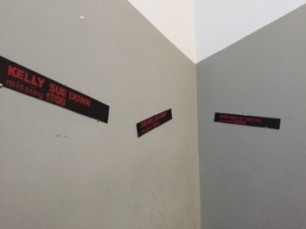 Names of victims adorned the walls at a commemoration of the Day to End Violence Against Sex Workers on Dec. 17, 2016 in Anchorage. (Photo by Anne Hillman/Alaska Public Media)
