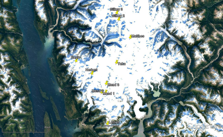 Researchers traveled to ten sites on seven glaciers on the Juneau Icefield in 2016 to find traces of black carbon or soot.