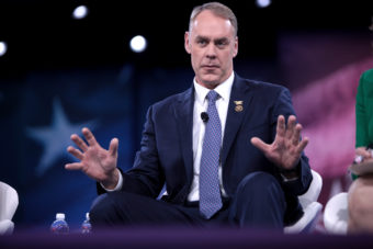 U.S. Congressman Ryan Zinke of Montana speaking at the 2016 Conservative Political Action Conference at National Harbor, Maryland, on March 3, 2016.